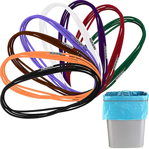 8 Pieces 3.28 Ft Trash Can Band, Colorful Litter Box Band Fits 13-30 Gallon Trash Cans, 8 Colors