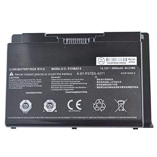 Hubei P370BAT-8 6-87-P37ES-427 6-87-P37ES-4271 Laptop Akkus für Clevo P370EM P370SM P370SM3 P370EM3 P370SM-A P375SM P377SM-A P751ZM Series for Sager NP9380 NP9380-S NP9390 (15.12V 5900mAh 89.21Wh)