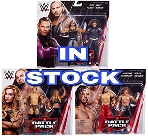 Wrestling Komplettset Bündel Alle 3 Packs WWE Mattel Kampf Packung Basic Kollektion  Serie 53  2018 Zubeh Wrestling ACTIONFIGUR
