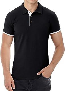 Aiyino Men's Summer Slim Fit Short Sleeve Casual T-Shirts Polo Shirts