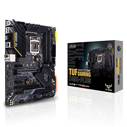 ASUS TUF Gaming Z490-PLUS, Scheda Madre Gaming Intel Z490 LGA 1200 ATX, M.2, 14 Fasi di Potenza DrMOS, LAN Intel 1 Gb, HDMI, DP, SATA 6 Gb, USB 3.2 Gen 2, Supporto Thunderbolt 3, RGB Aura Sync