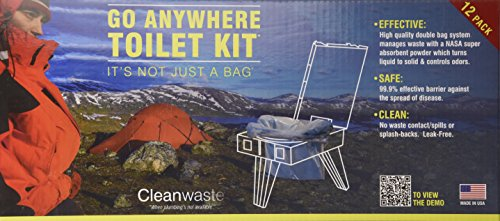 Cleanwaste WAG Portable Toilet Bags-100-Pack