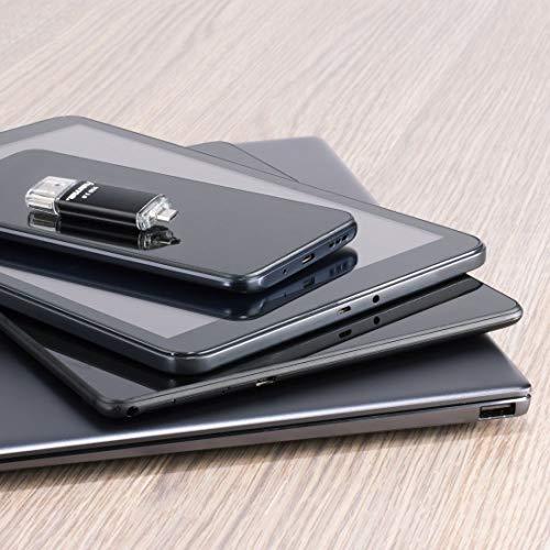 Hama 128GB USB-Speicherstick mit USB 3.0 & microUSB (2-in-1 USB-Stick, z.B. für Android Handy, Tablet, Computer, Notebook, PC, Laptop, MacBook, OTG, 40MB/s) Handy-Stick, Doppel Memory-Stick schwarz
