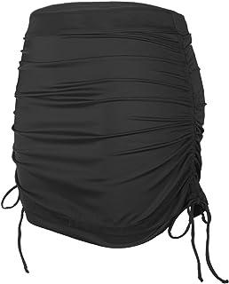 Women's Plus Size Swim Skirt Adjustable Side-Tie Length Cover-Up Skirts Swimsuit Skort Paired Bikini Tankini Built-in Briefs