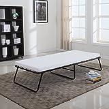 Divano Roma Furniture Foldaway Folding Bed Cot - Memory Foam