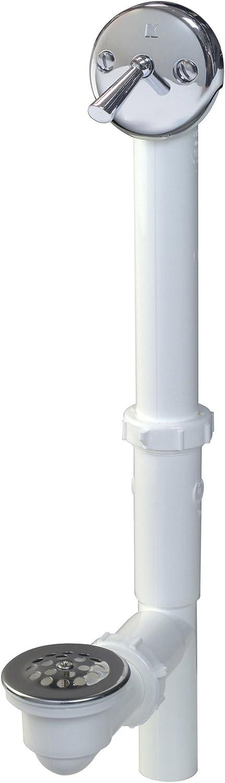 Plumb Pak Ultra-Cheap Deals PP64W Trip Lever Bath 2 1-1 Polish Drain service Plastic in
