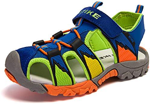 Zapatillas de Deporte al Aire Libre Sandalias del niño de Verano Playa Piscina Las Zapatillas de Deporte(Niño/Niño pequeño/Niños grandes-Azul-38)
