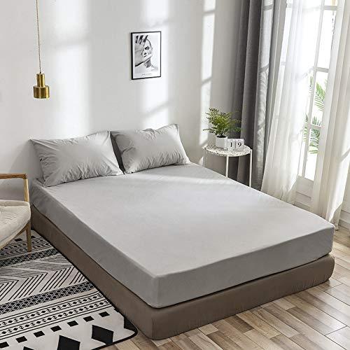 haiba Protector de colchón extra profundo de algodón, tamaño superking, calidad de hotel, comodidad extra y protección individual: 99 x 190 x 35 cm.