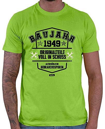 Hariz – Camiseta para hombre, año de construcción 1949, piezas originales, con texto en alemán, 70 cumpleaños, serigrafía y tarjeta de regalo