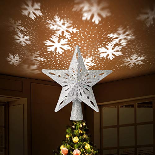 Christmas Traditions 27,9 cm Glittered Star Tree Topper/Home Decor Gold