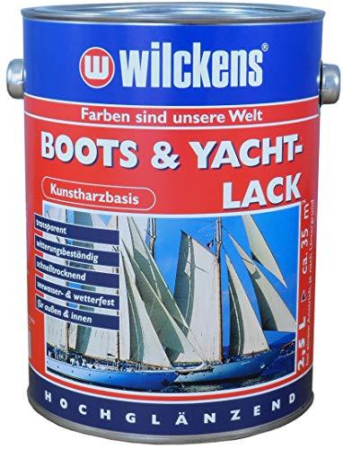 Boots u. Yachtlack 2,5 L klar Bootslack Boot Holz Yacht Lack hochglanz Klarlack