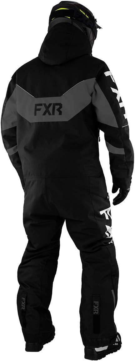 FXR Mens Fuel FX Monosuit 2021 Black//Charcoal//Hi-Vis//Grey - Medium