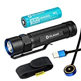 Olight S2R Baton Rechargeable Variable Output Side Switch LED Flashlight (S2R)