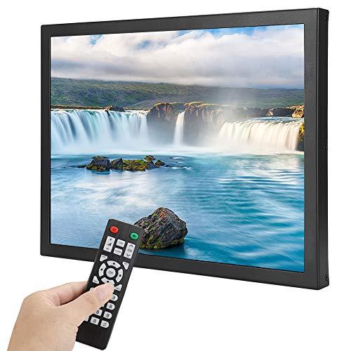 Monitor Industrial con Pantalla táctil de 15 Pulgadas de Resistencia 1024x768 Monitor Integrado 4: 3 con HDMI/VGA/AV/BNC/USB para PC, TV, CCTV, cámara y computadora(Enchufe de la UE)