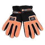 KJLH 1 par de guantes de invierno a prueba de viento caliente de la mano completa guantes de esquí al aire libre (naranja)