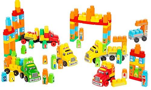 Moltó - Set de construcción con 6 Camiones, 200 Piezas (16480)