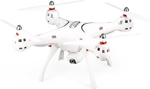Gwendoll Syma X8PRO 2.4G GPS PositionneHommest FPV RC Drone Quadcopter avec 720P HD WiFi Réglable Caméra en Temps Réel Altitude Tête Tête
