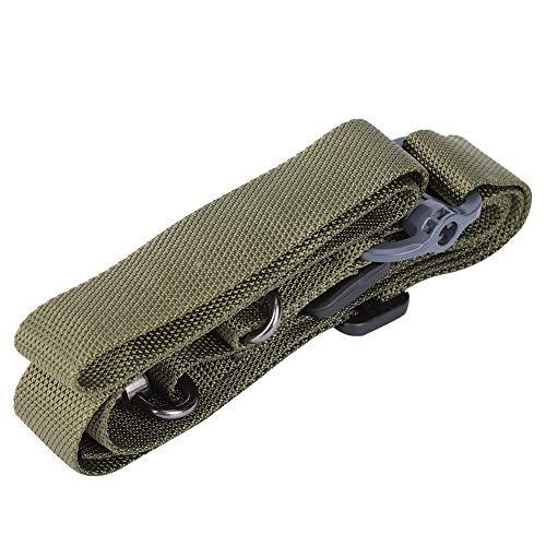 Jarchii 【2021 Promoción de año Nuevo】 Sling Single Dual Point Safety Hanging Belt 3 Colores 59.1in Shoulders Bag Correa 1PCS Tactics Spear(Green, Multifunctional Lanyard)