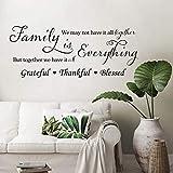 decalmile Pegatinas de Pared Letras y Frases Family is Everything Vinilos Decorativos Inspiradora Familia Adhesivos Pared Dormitorio Salón