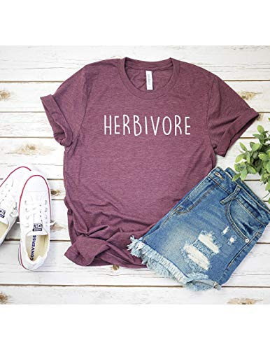 Herbivore T Shirt Womens T-Shirt Casual Top Graphic Tee Short Sleeve Shirt Vegan T Shirt Vegetarian T-Shirt
