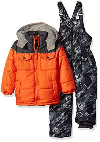 iXtreme Boys' Baby Active Snowsuit, Orange Colorblock, 12M