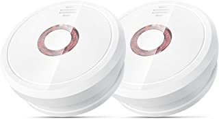 Smoke Alarm Battery Operated Smoke Detector with 10 Years Life, Isafenest Photoelectric Fire Alarm with Loud Alarm, Intell...