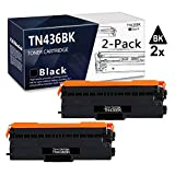 Black 2-Pack (High Yield, Up to 7,000 Pages) TN-436 TN-436BK Compatible Toner Cartridge Replacement for Brother MFC-L8610CDW MFC-L8900CDW MFC-L9570CDW HL-L8360CDW HL-L9310CDW DCP-L8410CDW Printer.