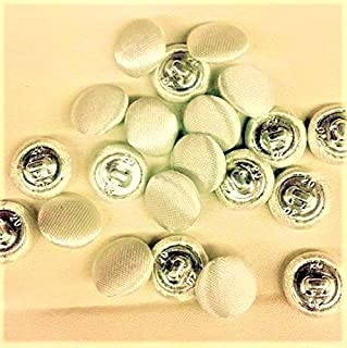 36Pcs Bridal Buttons, Bridal White Polyester Satin, 1/2