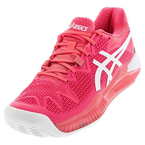 ASICS Women's Gel-Resolution 8 Clay Tennis Shoes, 8M, Pink Cameo/White