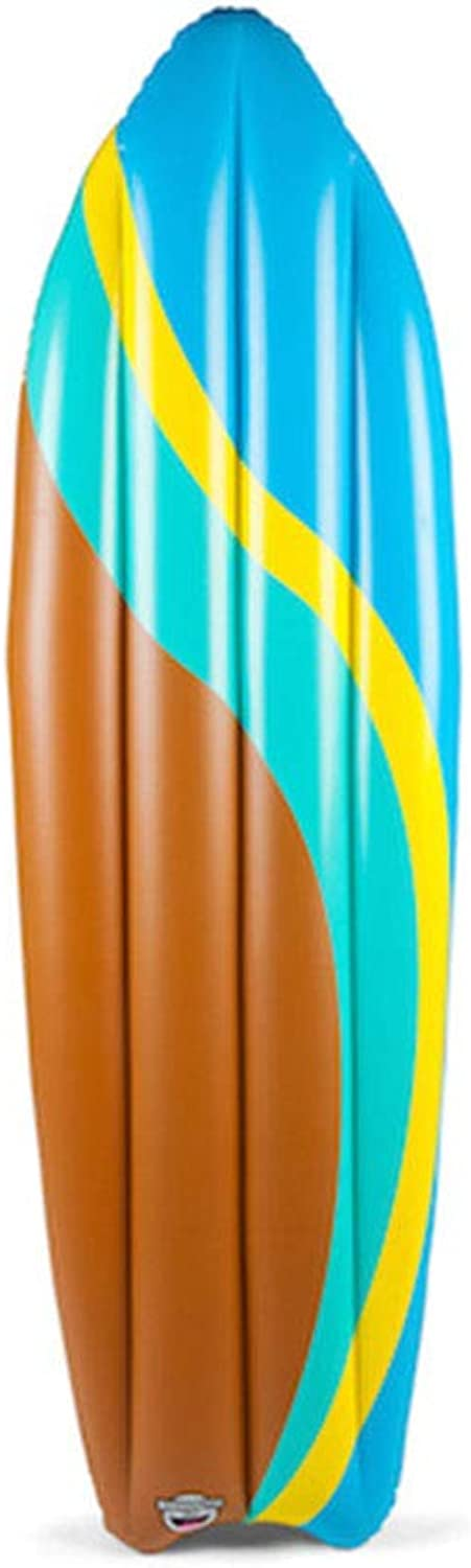 CBWZDJZDS Pvc Surfboard Water Adult Play Floating Row Inflatable Floating Row Brown 180Cm