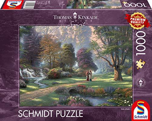 Schmidt Spiele 59677 Thomas Kinkade, Spirit, Weg des Glaubens, 1.000 Teile Puzzle
