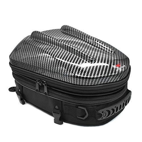 Motorrad Hecktasche, Tankrucksack wasserdichte Motorradsitz Erweiterbare Motorrad Gepäcktasche Motorrad Helmtasche Rucksack Handtasche, 11,0 * 13,0 * 10,2 Zoll
