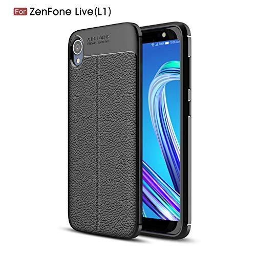 TenYll ASUS ZenFone Live (L1) ZA550KL Cover, [Ultrasottile] Protettiva Case Cover Custodia in Silicone per ASUS ZenFone Live (L1) ZA550KL Smartphone -Nero