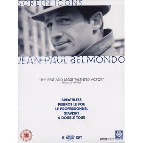 Jean-Paul Belmondo Collection 5-DVD Box Set ( À bout de souffle / Pierrot le fou / Le professionnel / L'empire d'Alexandre / À double tour ) [ UK Import ]