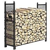 KINGSO 4ft Firewood Rack Outdoor...