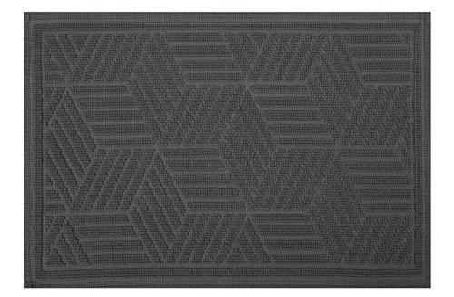 Spirella CUBO Grey 50x80 cm Badteppich/-vorleger, Baumwolle, grau, 80 x 50 cm