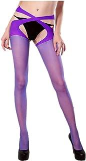 Costume donna Hold Up calze con reggicalze Da Smiffys Nuovi