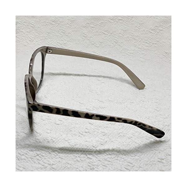Oversized Big Round Horn Rimmed Eye Glasses Clear Lens Oval Frame Non Prescription