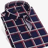 Camisas para Hombre Camisa De Algodón A Cuadros Grandes para Hombre Camisa De Algodón A Cuadros De Manga Larga con Botones Y Cuello Estándar 44 Czqq1323