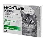 Frontline PLUS Spot On Cat Flea Treatment, 6 pipettes