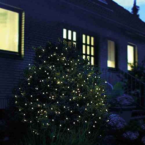 LED Lichternetz 2x2 m 160 LED Lichtnetz 2 x 2 m warmweiß innen außen