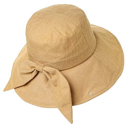 Comhats UPF 50 - Sombrero para mujer, ala ancha, plegable, con correa para la barbilla, tamaño ajustable