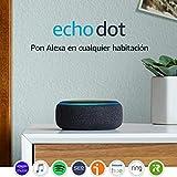 Echo Dot (3. generacin) - Altavoz inteligente con Alexa, tela de color antracita