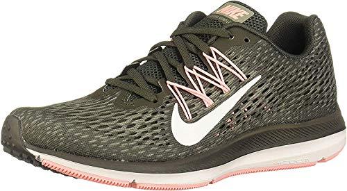 Nike Women's Zoom Winflo 5 Running Shoe, Newsprint / Summit White, 8.5