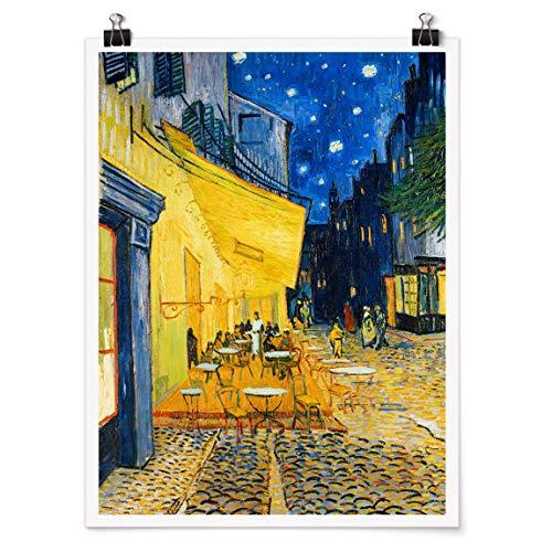 Bilderwelten Poster Vincent Van Gogh Café-Terrasse Arles Selbstklebend seidenmatt 40 x 30cm