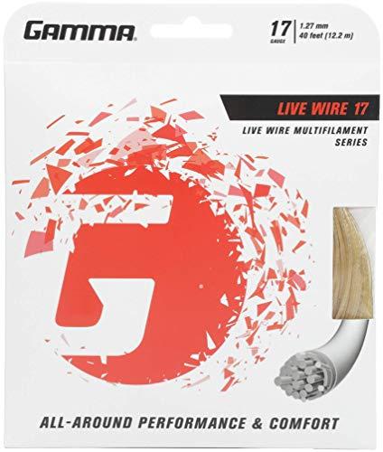 Gamma–Corda da Tennis Live Wire Natura, 12.2m Set, Saitenset Live Wire, Naturale