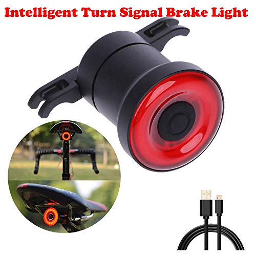 kunle 2018 New COB LED Bicycle Tail Light Intelligent Turn Signal Brake Light Induction Brake Bicycle Accessory Sport MTB #E921