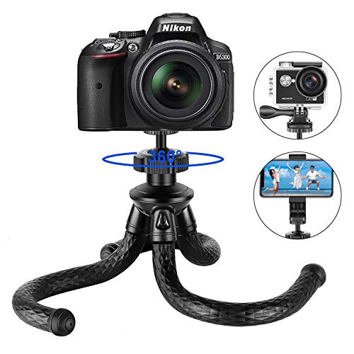 """Neewer Treppiedi per telefono flessibile 12 """"per iPhone X 8 Plus 8 Samsung S9 fotocamera videocamera GoPro telefono cellulare fotografia sferica a 360° morsetto telefonico NON incluso"""