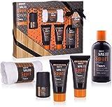 BRUBAKER Cosmetics 'Spa Sport Musc' 5 piezas, set de baño para hombres con toallita en cofre regalo