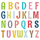 DECOWALL DA-1701A Uppercase Alphabet ABC Letter Kids Wall Stickers Wall Decals Peel and Stick Removable Wall Stickers for Kids Nursery Bedroom Living Room décor